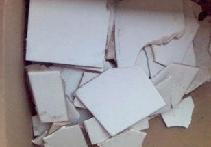 Керамическая плитка, спекшийся керамзит