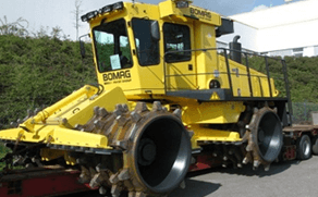 Машины для уплотнения мусора, со шредерными катками