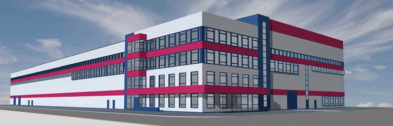 Внешний вид завода и инжинирингового центра (1 очередь).